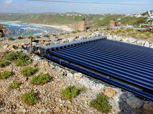 solar thermal - green roof
