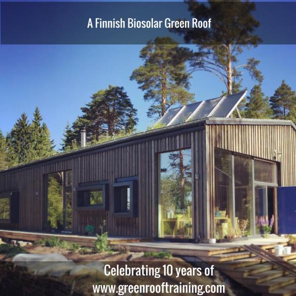 Finnish green roof - biosolar