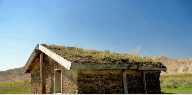Nebraska sod roof